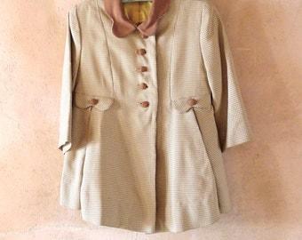 1940s Little Girl's Coat and Bonnet Size 2