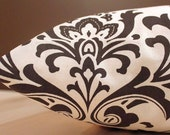Add Personalization - DESIGNER Pet Bed Duvet Cover - Stuff with Pillows - YOU Choose Fabric - Traditions Damask Chocolate/Natural shown