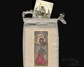 Nouveau Belly Dancer Tarot bag drawstring pouch