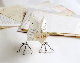 1st Paper Anniversary First Wedding Gift Poem - i carry your heart - Made To Order