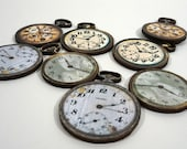Pocket Watches - Collection of 8 Wooden Distressed Watches