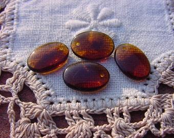Glowing Mink Dangles Vintage Czech Glass Beads