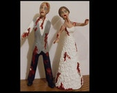 Generic Zombie Bride and Groom Wedding Cake Toppers Custom Figure set - Personalized