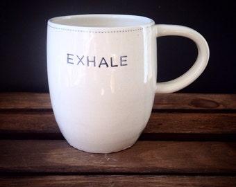 Inhale - exhale mug xl