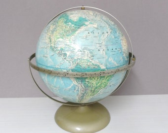 Vintage World Globe Rand McNally & Co 12 inch Circa 1958