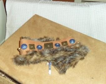 Pet Collar, Doggie Neakwear, Pet Clothing, Pet Accessory, Doggie Accessory, OOAK, Handmade Dog Accessory, Faux Fur Dog Collar