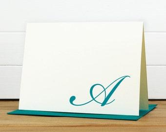 Personalized Stationery Set / Personalized Stationary Set - FLOURISH Custom Personalized Note Card Set - Monogram Formal Traditional