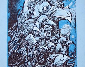 Birdoliths Rising 18 x 24 art print