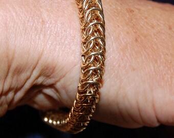 Golden Princess 14k goldfilled Chainmaille Bracelet