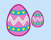 Easter Egg machine embroidery design in two sizes