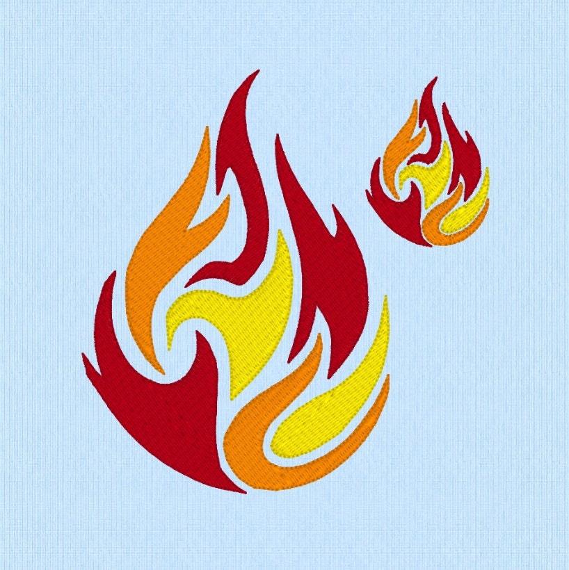 Dancing Fire Blaze Flames machine embroidery design file in