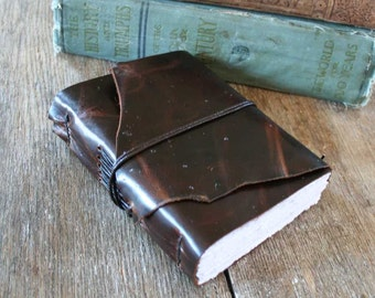 "Leather Journal - ""Not being heard is no excuse for silence"" -Victor Hugo, Les Miserables . handmade handbound . dark brown  (320 pgs)"