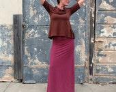 ORGANIC Super Cowl Babydoll Shirt (light hemp/organic cotton knit) - organic dress