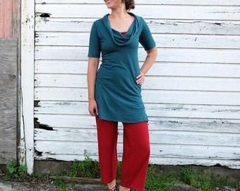 ORGANIC Gypsy Simplicity Tunic ( light hemp and organic cotton knit ) - organic dress
