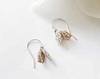 dulcet - layered cut-out gold earrings