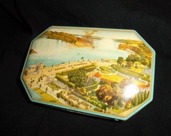 Vintage Blue Bird Toffee Souvenir Tin from Niagara Falls