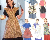 Retro apron collection Vintage Reproduction Sewing pattern Simplicity 8720 All sizes
