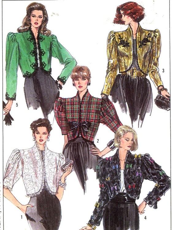 80s Capelet Jacket Wedding Evening wear Style vintage sewing pattern Simplicity 8954 UNCUT Bride Wedding SZ 10