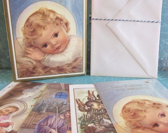 Box of 13 Vintage Unused Christmas Cards and Envelopes Polish Association of Marian Helpers