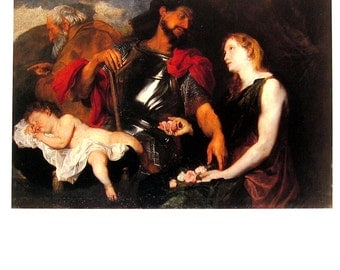 The Three Ages of Man - Anthony van Dyck - Masterpiece Painting - 1994 Vintage Print Reproduction - 12 x 9