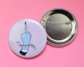 Jumbo Dear Patriarchy 2.25 Inch Button in Pink