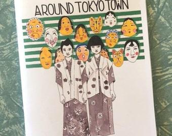 Around Tokyo Town zine comic