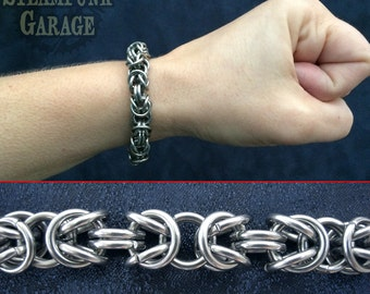 Bracelet - Steel Byzantine - Stainless Chainmaille