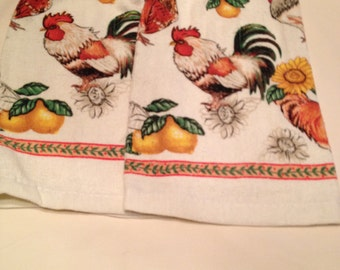 Rooster Print Towel set of 2