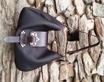 Bohemian Rustic chocolate leather bag