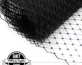 Black - Russian / French Veiling - Netting - Millinery - Hat Veil - Birdcage Veiling -  1 Yard