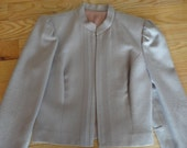 Womens Vintage 1980s MJ 100% Wool Suit. Size 9 Fully Lined Lavender