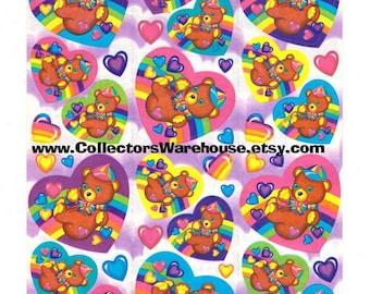 Lisa Frank Teddy Bear Sticker Sheet S167 bear artist