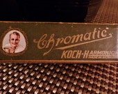 Vintage Chromatic Koch Harmonica from the 20's --Made in Germany in Original Box