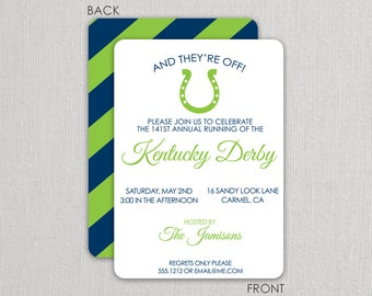 Horse Race Party Invitation Printable Kentucky Derby Invite