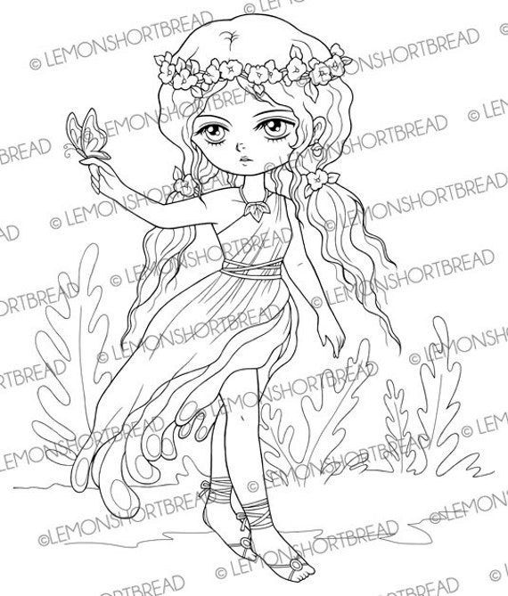 digital stamp floral toga fairy butterfly pixie by lemonshortbread. Black Bedroom Furniture Sets. Home Design Ideas