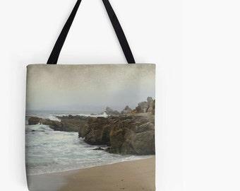 Pillow or Tote - Sand, Sea, Rocks Beach, Travel bag, Farmer's Market Bag, gift idea