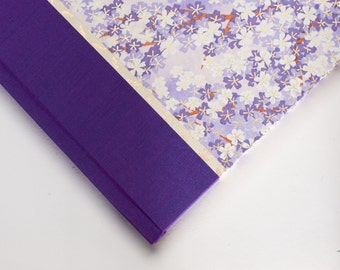 Lilac Guest Book or Journal - Lilac Wedding Guest Book, Memorial Guest Book, Diary, Notebook