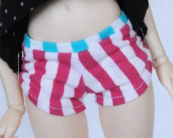 BJD Minifee clothes Stripes Shorts by MonstroDesigns Ready to ship