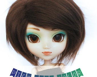 "Pullip wig Teayang wig 9.5"" Short Pick Your Color fake fur wig MonstroDesigns"