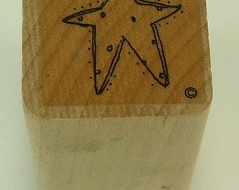 Star Wood Mounted Rubber Stamp Close To My Heart CTMH