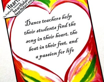 Dance Teacher Thank You Quotes Quotes