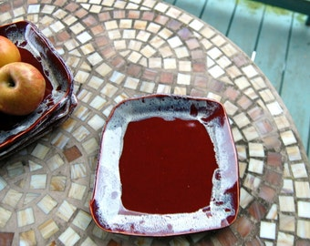 Red Agate Lunch Plate - Made to Order