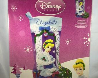 Janlynn Felt Christmas Stocking Kit - Cinderella  - New Unopened Package