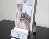 Modern Metal Brochure and Business Card Holder Combo