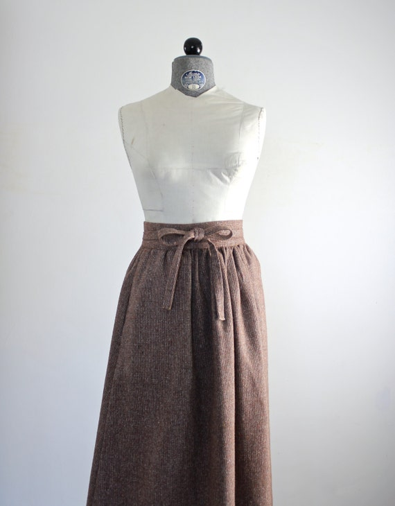 tweed skirt wrap skirt high waisted skirt 70s by jessjamesjake