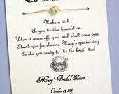 English Tea Party - A Bride's Wish - Wish Bracelet Bridal Shower Favor Custom Made for You