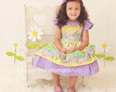 Sweeter than Sunshine dress with attached pinafore