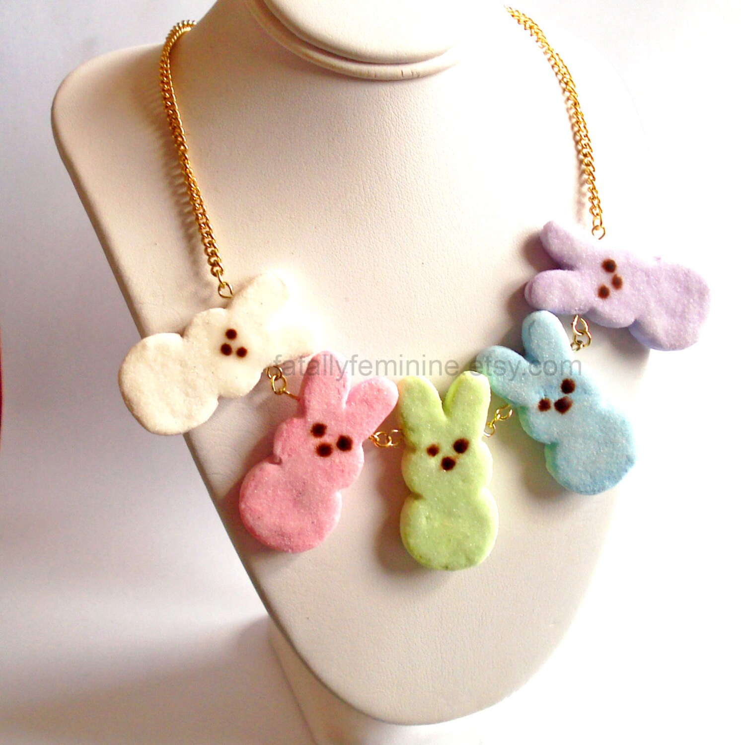 Bunny Necklace Cotton Tail Bunny Easter Jewelry by JypsyJewels |Happy Easter Jewelry