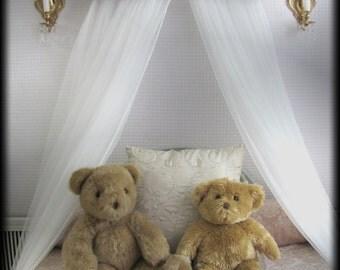 Boys Nursery crib bedroom Tan blue Damask canopy Cornice PRINCE Upholstered SALE