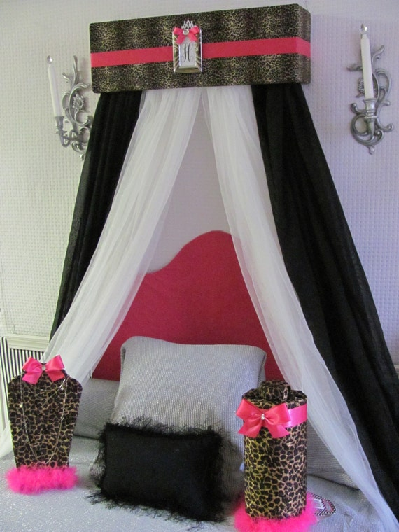 Like this item? & Cheetah Hot pink BED Canopy Crib Nursery CROWN Animal print
